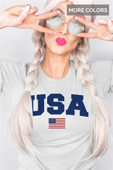 Picture of USA + Flag Graphic Tee