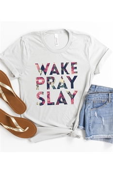 Picture of Wake Pray Slay Graphic Tee by FBT