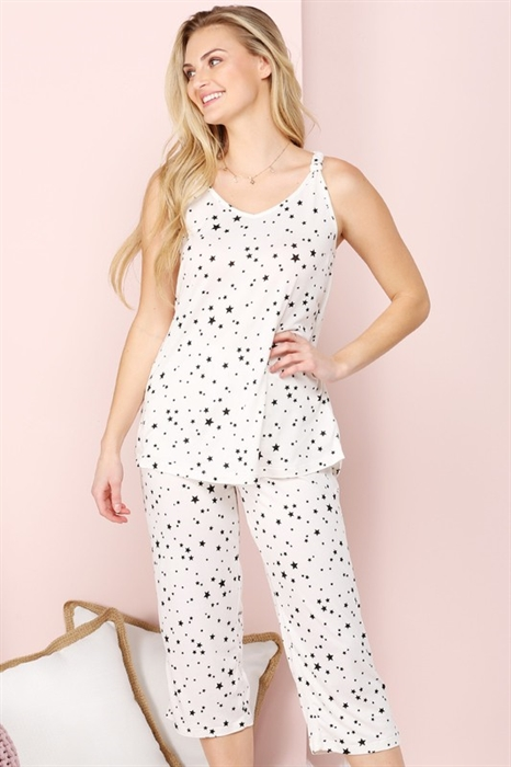 Picture of Sweet Dreams Pajama Set | White Stars